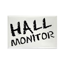 Hall Monitor Funny School Rectangle Magnet