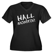 Hall Monitor Funny School Women's Plus Size V-Neck