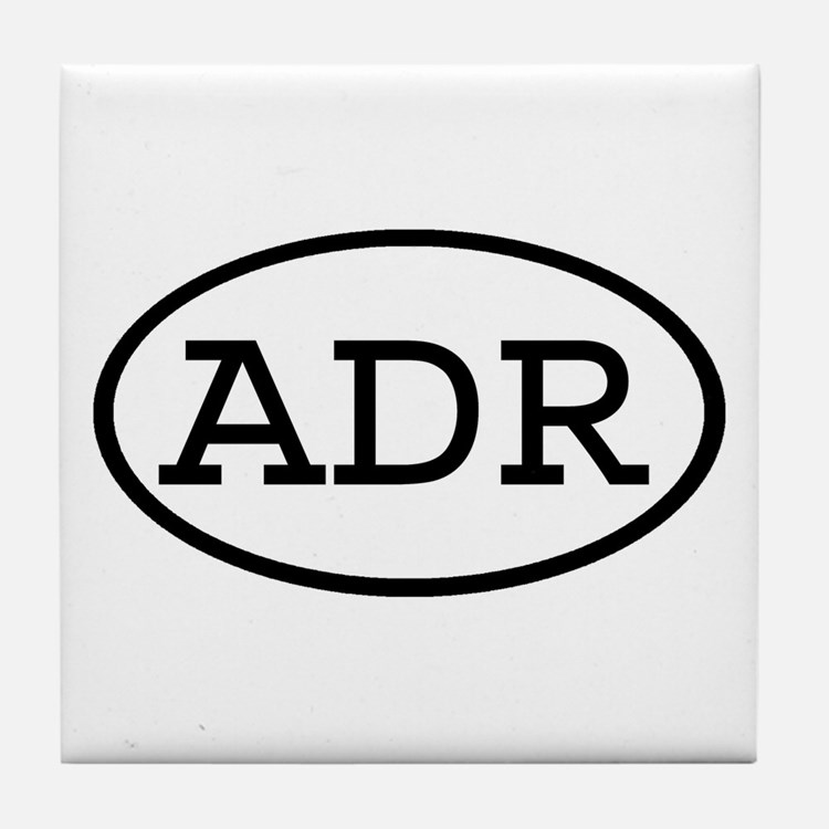 ADR Oval Tile Coaster