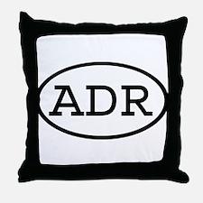 ADR Oval Throw Pillow
