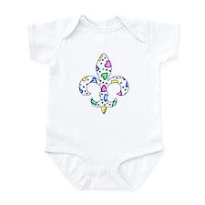 Baby Fleur de lis Hearts Infant Bodysuit