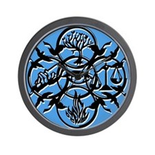 Divergent Faction Art Blue Wall Clock