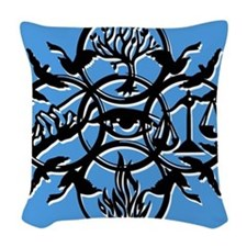Divergent Faction Art Blue Woven Throw Pillow
