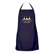 One by one, the penguins Apron (dark)