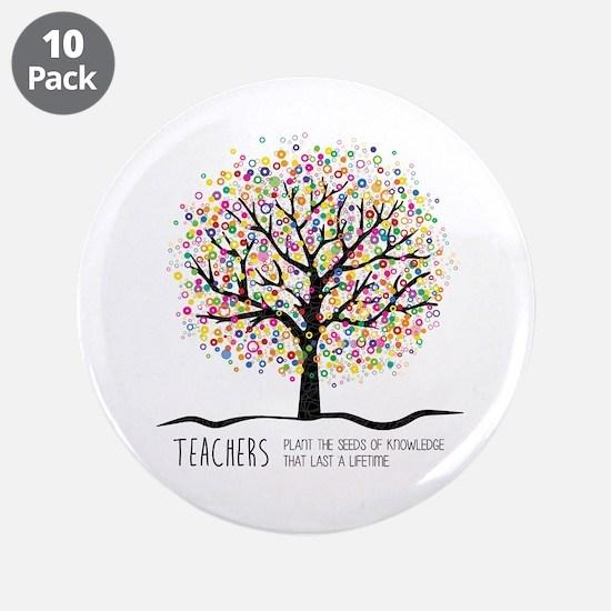 "Teacher appreciation quote 3.5"" Button (10 pack)"