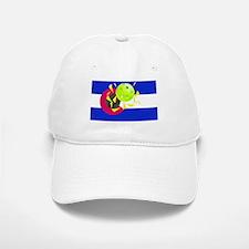 pickleball in Co state flag Baseball Cap
