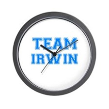 TEAM IRWIN Wall Clock