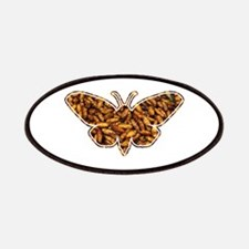 Bamboo Borer Moth Life Cycle Silhouette Patches