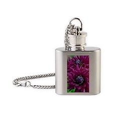 Cute Floral botanical Flask Necklace