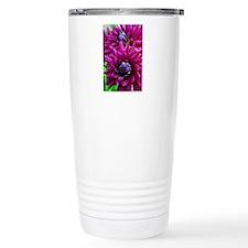 Purple dahlia flowers Travel Mug