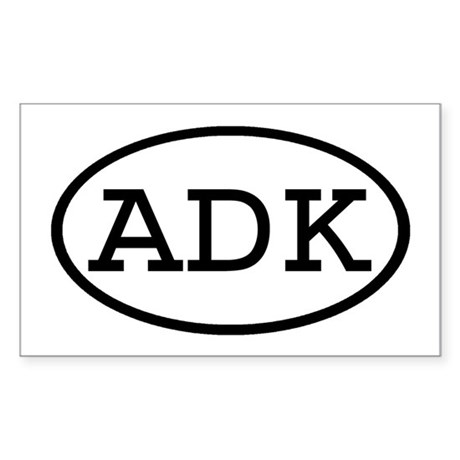 ADK Oval Rectangle Sticker