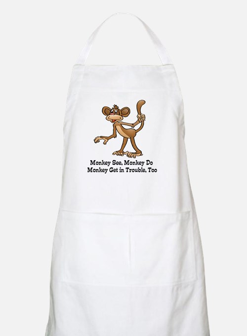 Monkey See monkey Do Apron