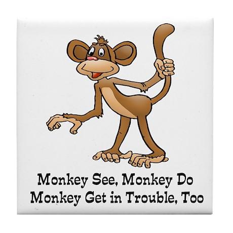 Monkey See Monkey Do Tile Coaster By Admin Cp2467713