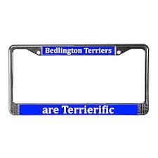Bedlingtons Are Terrierific License Plate Frame