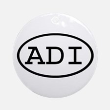 ADI Oval Ornament (Round)