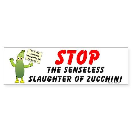 Save Zucchini Bumper Sticker