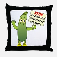 Save Zucchini Throw Pillow