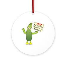 Save Zucchini Ornament (Round)