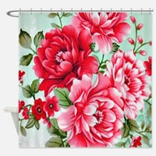 Cool Pink green Shower Curtain