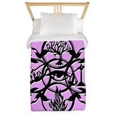 Divergent Faction Art Pink Twin Duvet