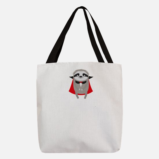 Sloth Vampire born in February Polyester Tote Bag