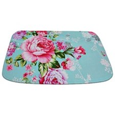 Unique Pink green Bathmat