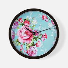 Cute White rose Wall Clock