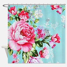 Unique Pink turquoise Shower Curtain