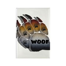 wOOF FURRY BEAR PRIDE PAW Rectangle Magnet