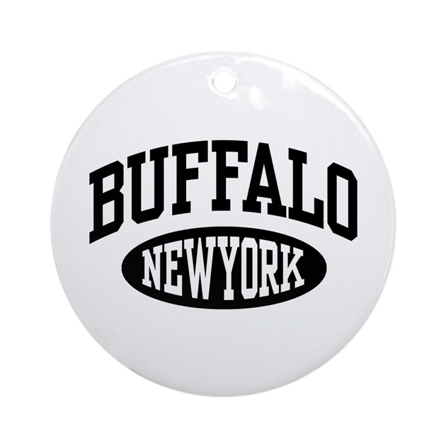 Buffalo New York Ornament (Round) By Spunketees