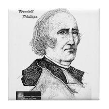 Wendell Phillips Tile Coaster