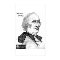 Wendell Phillips Rectangle Decal