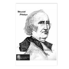 Wendell Phillips Postcards (Package of 8)