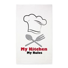 My Kitchen My Rules 3'x5' Area Rug