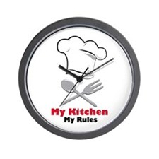 My Kitchen My Rules Wall Clock