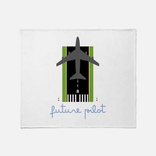 Future Pilot Throw Blanket
