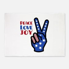 Peace Love Joy 5'x7'Area Rug