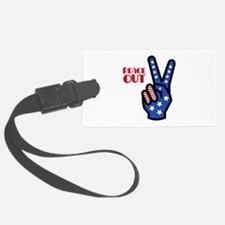 Peace Out Luggage Tag