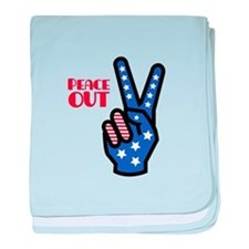 Peace Out baby blanket