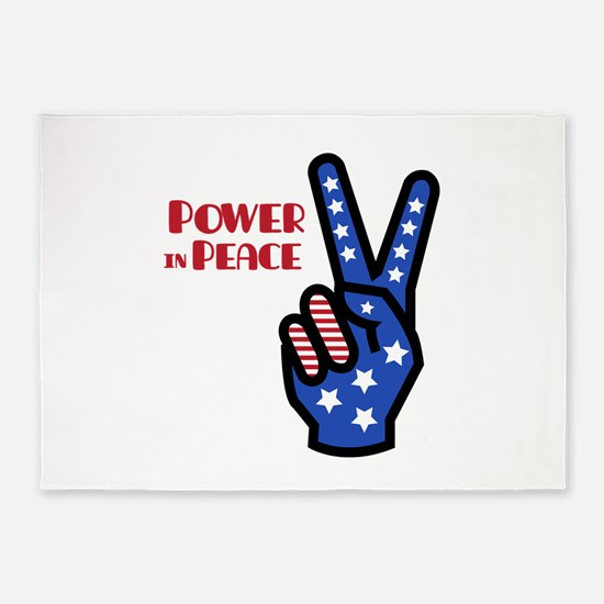 Power In Peace 5'x7'Area Rug