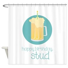 Happy Birthday Stud Shower Curtain