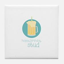 Happy Birthday Stud Tile Coaster