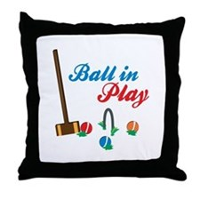 Ball In Play Throw Pillow