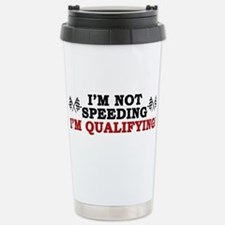 """I'm Not Speeding: I'm Qualifying!"" Mugs"