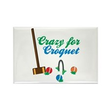 Crazy For Croquet Magnets