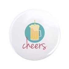 """Cheers 3.5"""" Button (100 pack)"""