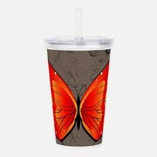 Butterfly Acrylic Double-wall Tumbler