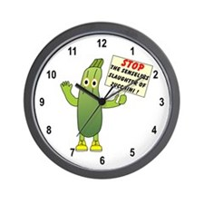 Save Zucchini Wall Clock
