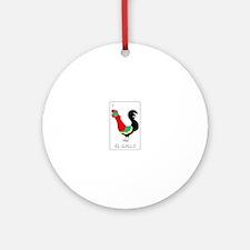El Gallo Ornament (Round)
