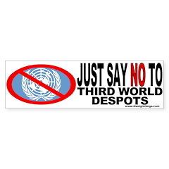 No UN Political Bumper Bumper Sticker